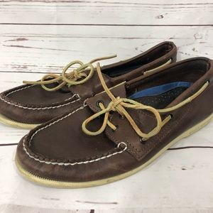 Sperry Top-Sider Dark Brown Leather Boat Shoes